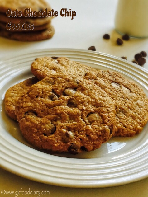 Oats Chocolate Chip Cookies Recipe for Toddlers