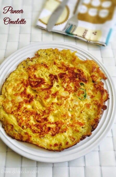 Paneer Omelette Recipe for Babies