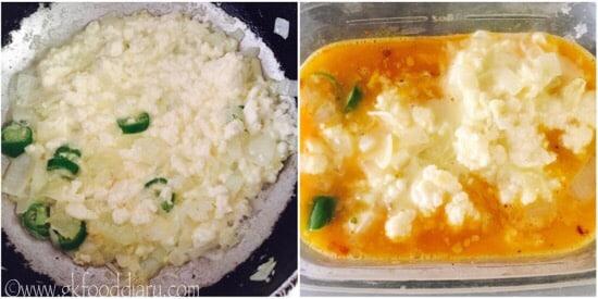 Paneer Omelette Recipe steps 4