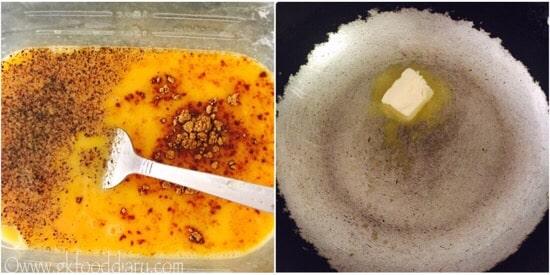 Paneer Omelette Recipe steps 3