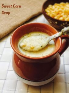 Sweet Corn Soup Recipe for Babies