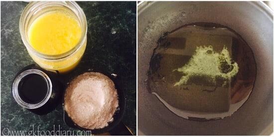 Wheat Halwa recipe step 1
