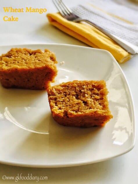 Eggless Wheat Mango Cake Recipe