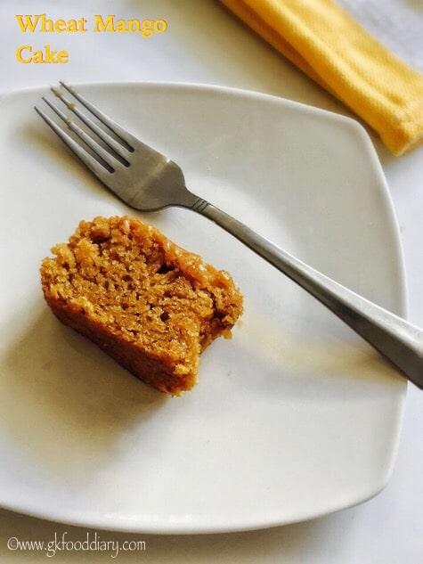 Eggless Wheat Mango Cake