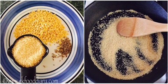 Homemade Dalia Khichdi powder Step 1