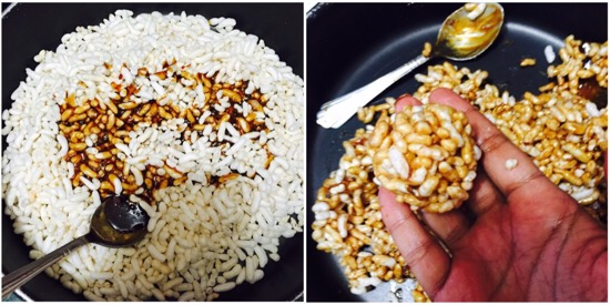 Puffed Rice Balls Recipe step 4