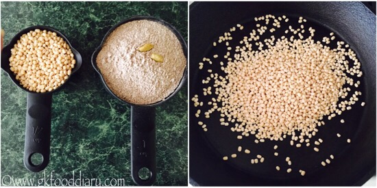 Ragi Urad Dal Porridge Mix Recipe step 1