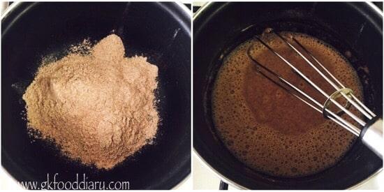 Ragi Urad Dal Porridge Recipe step 1