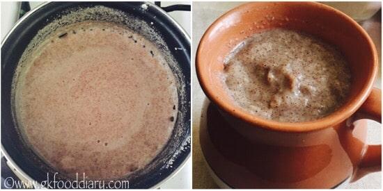 Ragi Urad Dal Porridge Recipe step 3