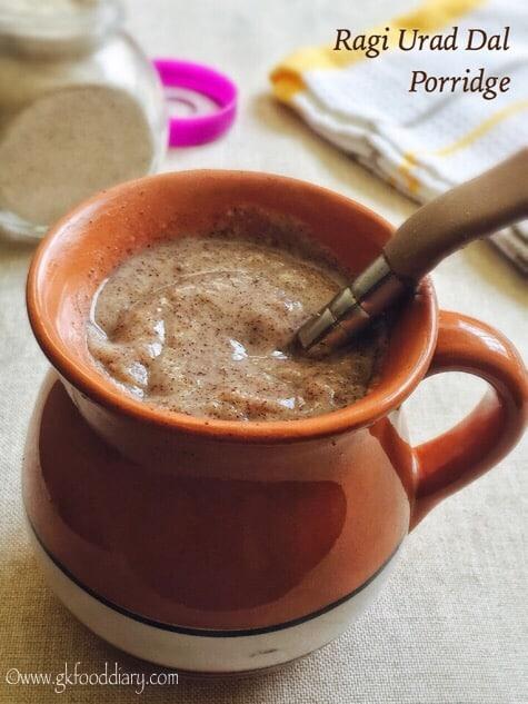 Ragi Urad Dal Porridge Recipe