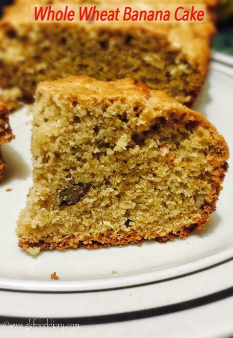 Whole Wheat Banana Cake Recipe for Toddlers