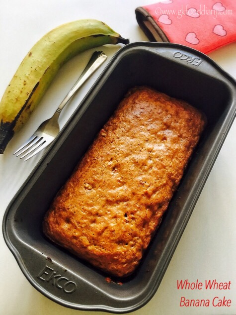 Whole Wheat Banana Cake
