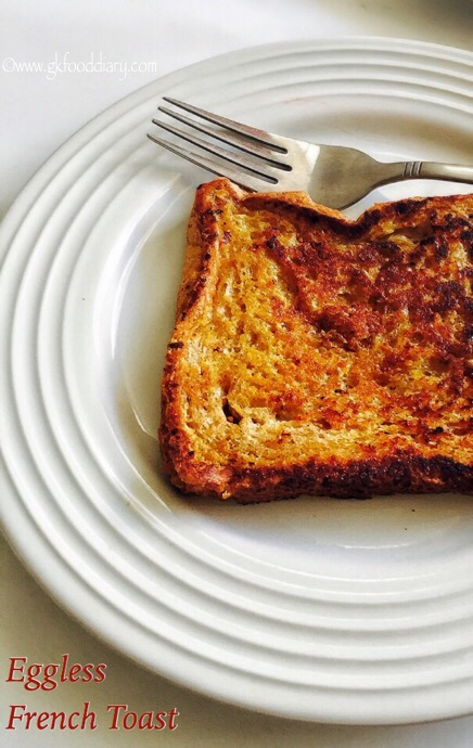Eggless French Toast Recipe for Babies