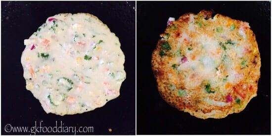 Instant Sooji Uttappam Recipe Step 3