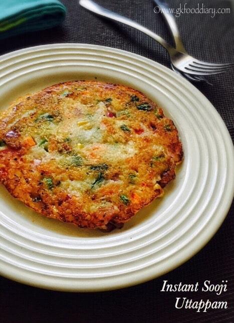 Instant Sooji Uttappam Recipe