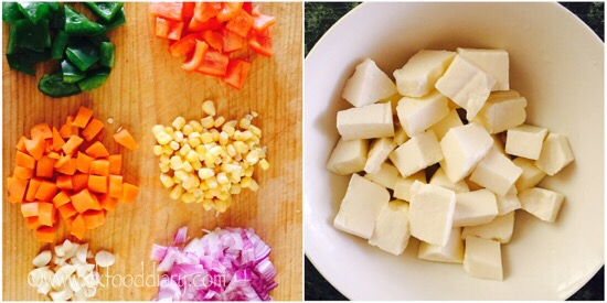 Paneer Stir Fry Recipe Step 1