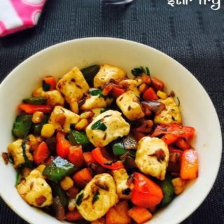 Paneer Stir Fry (with vegetables) Recipe for Toddlers and Kids 1