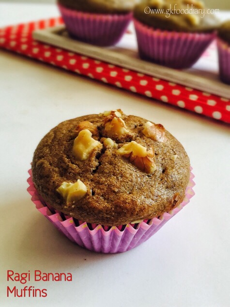 Ragi Banana Muffins Recipe for Toddlers and Kids
