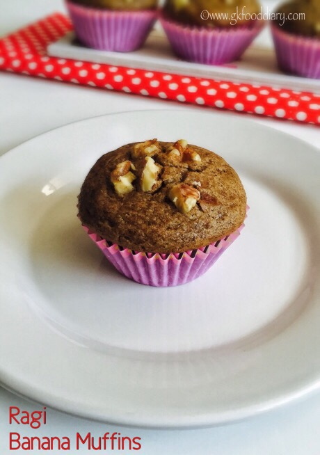 Ragi Banana Muffins Recipe for Toddlers