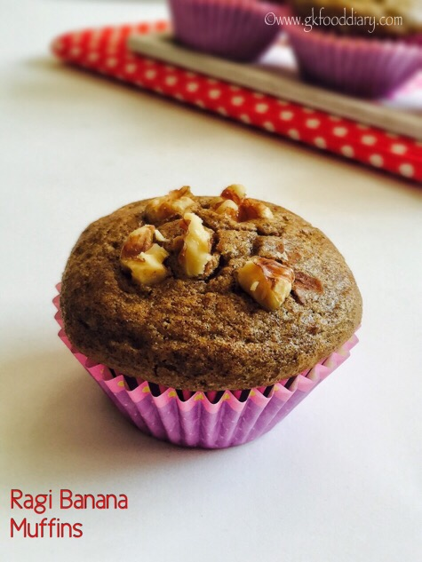 Ragi Banana Muffins Recipe for Toddlers and Kids 1