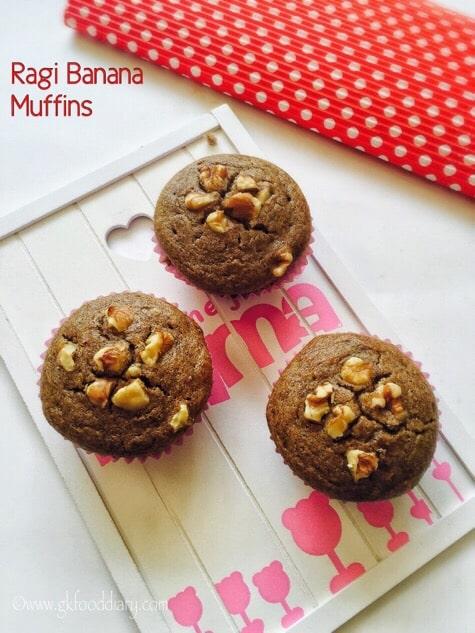 Ragi Banana Muffins