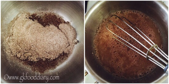 Ragi Buttermilk Recipe Step 2
