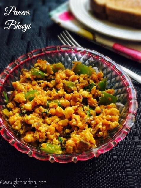 Paneer Bhurji Recipe for Toddlers and Kids