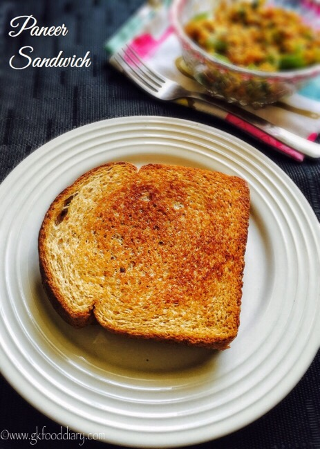 Paneer Sandwich Recipe for Toddlers