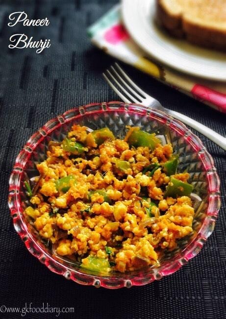 Paneer Bhurji Recipe for Toddlers and Kids 1