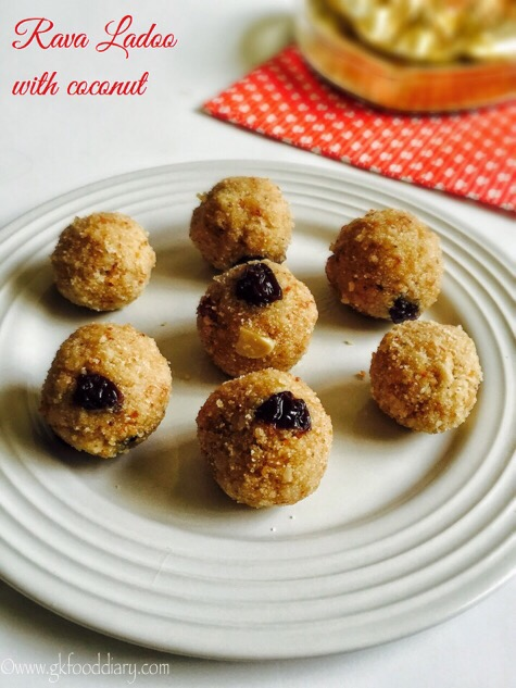 Rava Ladoo Recipe for Toddlers and Kids