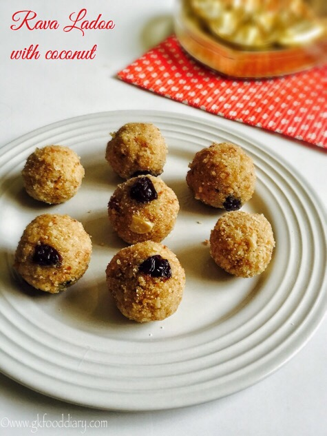 Rava Ladoo Recipe for Toddlers