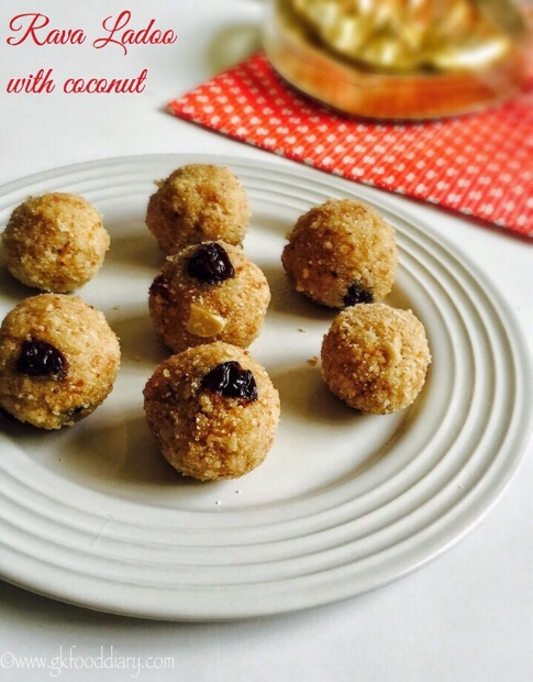 Rava Ladoo Recipe for Toddlers,Kids