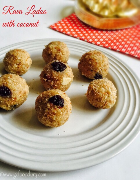 Rava Ladoo Recipe for Toddlers and Kids 1