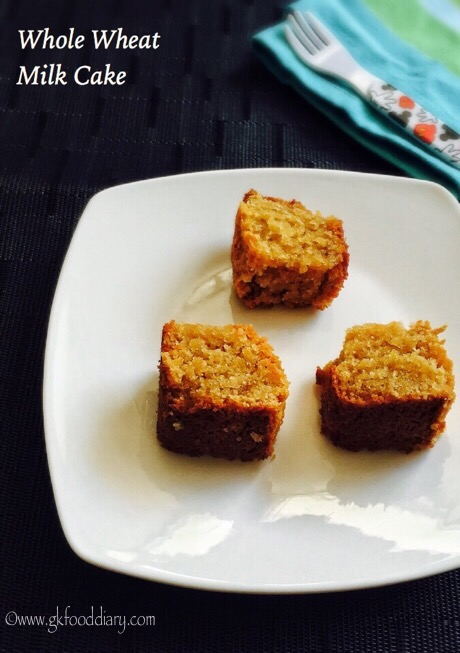 Whole Wheat Milk Cake Recipe for Toddlers and Kids