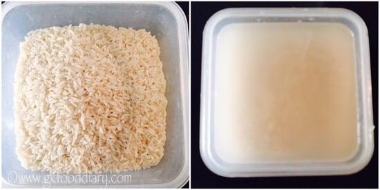 Coconut Dosa Recipe Step 1