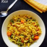 Masala Rice Recipe for Toddlers, Kids
