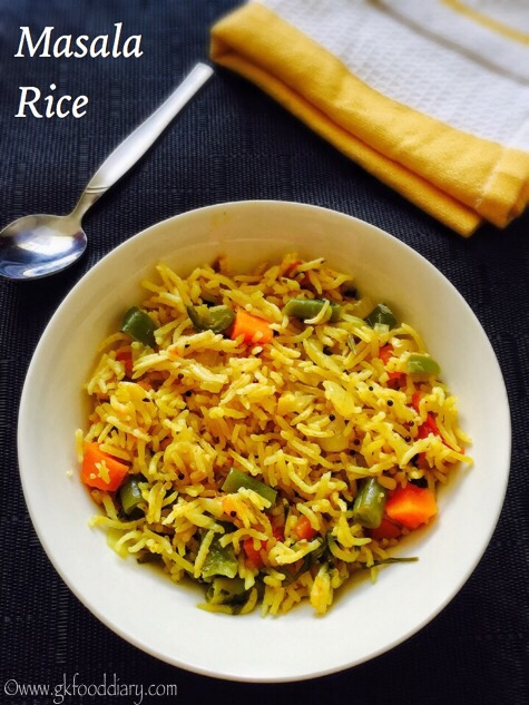 Masala rice recipe for toddlers and kids gkfooddiary homemade masala rice recipe for toddlers kids forumfinder Choice Image