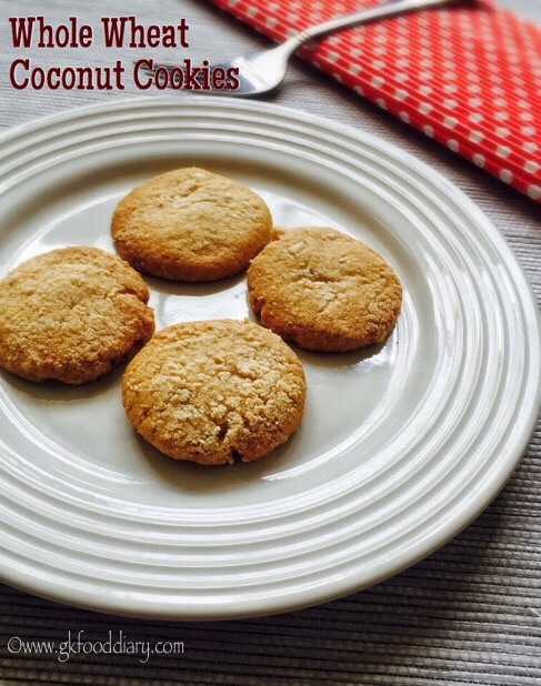 Whole Wheat Coconut Cookies Recipe for Toddlers