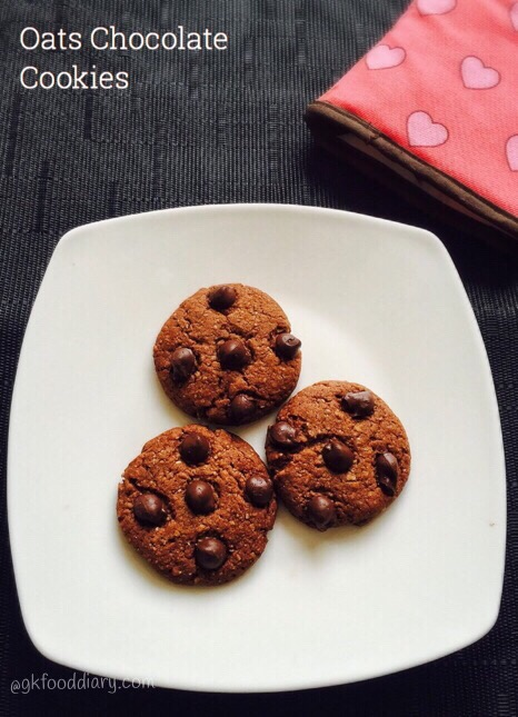 Oats Chocolate Cookies Recipe for Toddlers and Kids