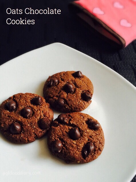 Oats Chocolate Cookies Recipe for Toddlers