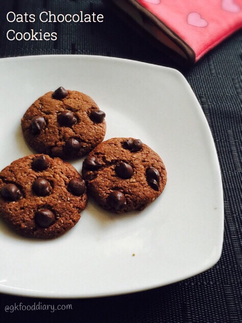 Oats Chocolate Cookies Recipe for Toddlers and Kids 1