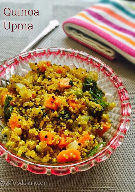 Quinoa Upma Recipe for Toddlers and Kids 1