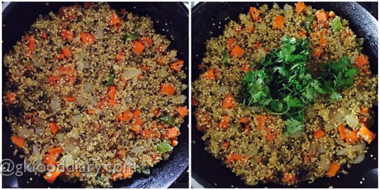 Quinoa Upma Recipe Step 4