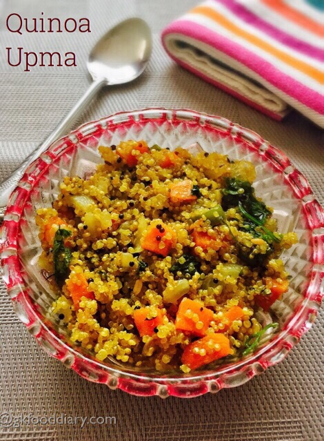 Quinoa Upma Recipe for Toddlers and Kids