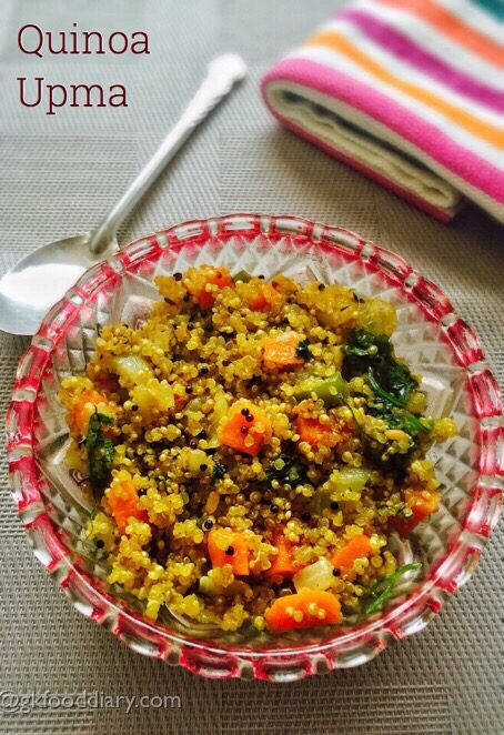 Quinoa Upma Recipe for Toddlers