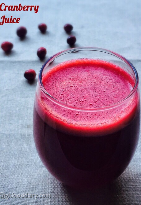 Cranberry Juice Recipe for Babies, Toddlers and Kids
