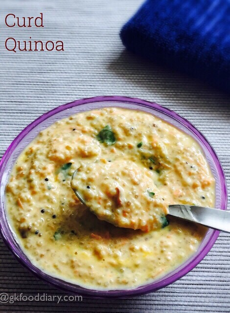 Curd Quinoa Recipe for Babies