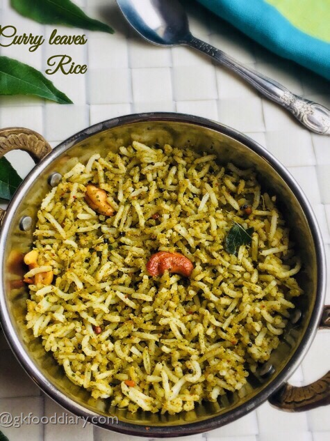 Curry Leaves Rice Recipe for Toddlers and Kids | Karuveppilai sadam recipe | Rice Varieties 2