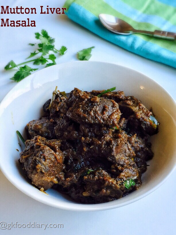 Mutton Liver Masala Recipe for babies