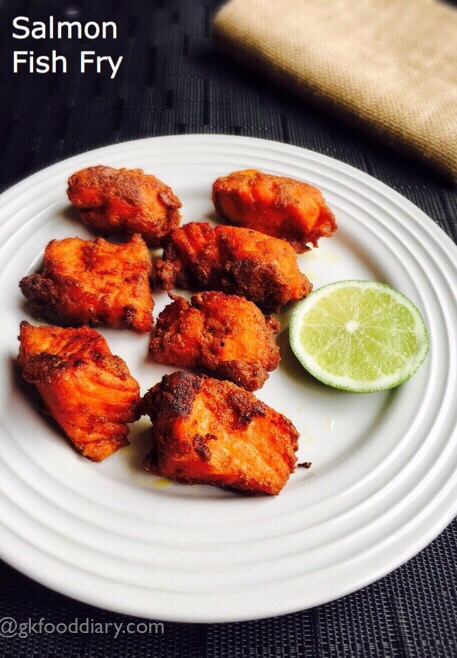 Salmon fish fry Recipe Indian style